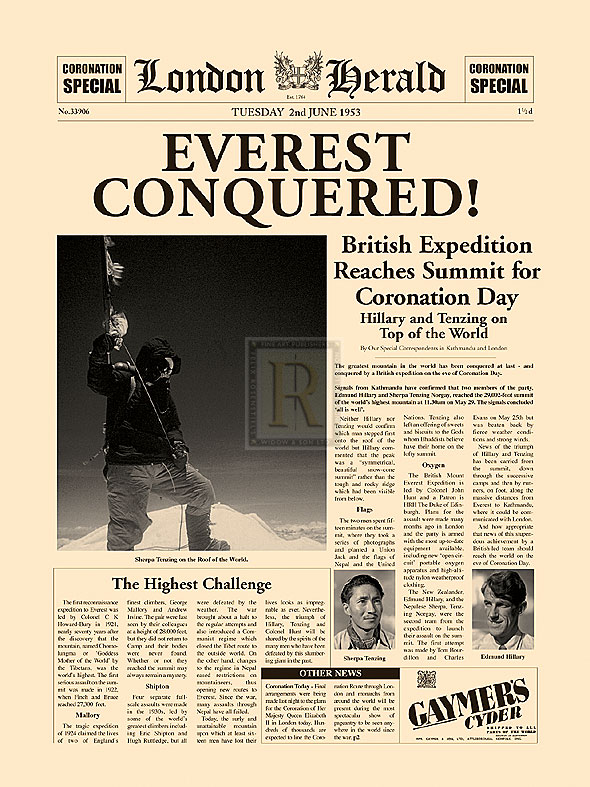 the conquest of mt. everest research paper