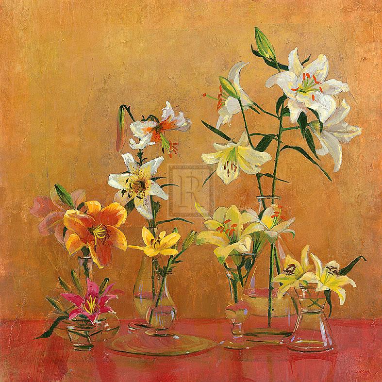 Lilies In Vases I - Danson
