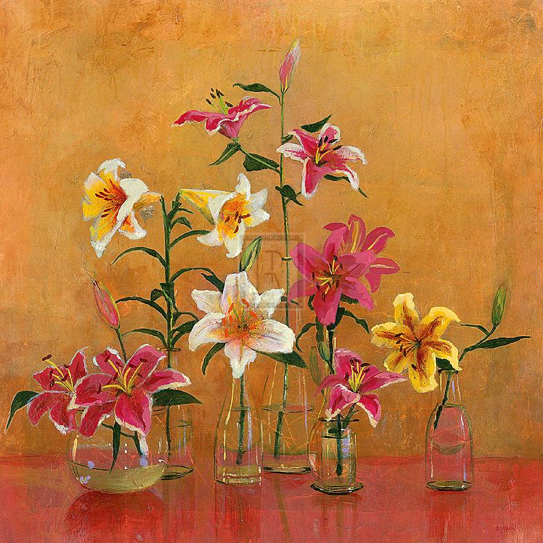 Lilies In Vases II - Danson
