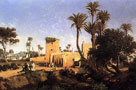Moorish Buildings At Elche, Spain by Adolphe Balfourier