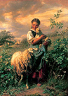 The Young Shepherdess by Johann Baptist Hofner