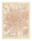 'Moskau'  - A Map Of Moscow, 1892 by Friedrich Arnold Brockhaus