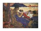 Canoe; Tahitian Family (Te vaa) by Paul Gauguin