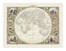 Eastern Hemisphere, 1851 by John Tallis