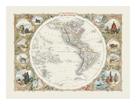 Western Hemisphere, 1851 by John Tallis