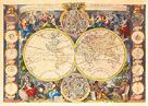 Nouvelle Mappe-Monde,  c1750 by Gaspar Bailleul