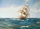 A Clipper Ship by Montague Dawson