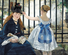The Railway by Edouard Manet