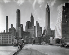 Manhattan Skyline - South Street and Jones Lane, Manhattan by Berenice Abbott