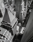 Wall Street, from the Roof of Irving Trust Co. Building, Manhattan by Berenice Abbott