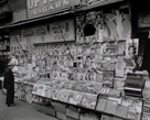 Newsstand, 32nd Street and Third Avenue, Manhattan by Berenice Abbott