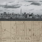 NYC Map II by The Vintage Collection