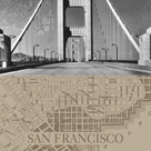 San Francisco Map II by The Vintage Collection