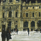 Winter, Louvre 6, Paris by Susan Brown