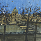 Paris in Winter, Passarelle des Arts by Susan Brown