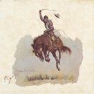 A Running Bucker by Frederic Sackrider Remington