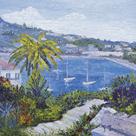 Le Banc de Pierre a Villefranche-Sur-Mer by Tania Forgione