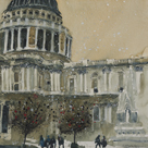 St. Paul's Cathedral, Late Autumn by Susan Brown
