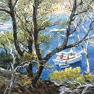 Boat through the Trees by Malva