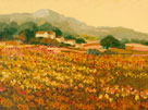 Afternoon Sun, Languedoc by Hazel Barker