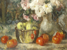 Still Life with Fruits and Flowers by Jean Laudry