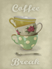 Vintage Tea II by Janie Secker
