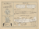 Airplane Plan by The Vintage Collection