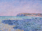 Shadows on the Sea. The Cliffs at Pourville by Claude Monet