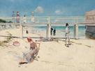 A Holiday at Mentone by Charles Conder