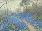 A Hillside of Bluebonnets - Early Morning, Near San Antonio Texas by Julian Onderdonk