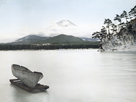 Japan, view of Mount Fuji, Lake Yamanaka by Waldemar Abegg