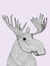 Linear Friends - Moose by Virginia Kraljevic