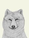 Linear Friends - Wolf by Virginia Kraljevic