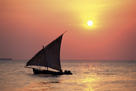 Dhow at Sunset by Lee Frost
