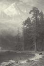 Mount Corcoran - Vintage by Albert Bierstadt