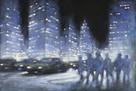 City Blue Nights by David Hinchliffe