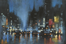 City Night Reflections by David Hinchliffe