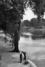 Men Fishing along the Seine by Jules Dortes