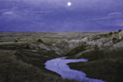 Moonlit Badlands by Wink Gaines
