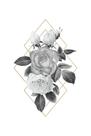 Floral Luxe Geo - Noir by Gwen Aspall