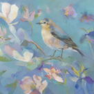 Birds in Magnolia - Detail II by Sarah Simpson
