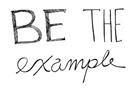 Be The Example by Virginia Kraljevic