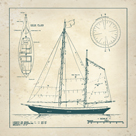 Nautical Blueprint III by The Vintage Collection