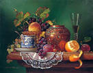 Still Life with Fruit I by Raymond Campbell