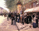 On the Boulevard by Jean-Georges Beraud