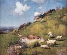 Sheep on a Hillside by William Llewellyn