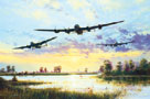 Dam Busters Setting Off (Avro Lancasters) by Simon Atack