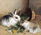 Bunnies' Meal II by Alfred Barber