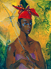 Woman with Parasol by Boscoe Holder