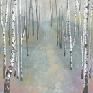 Silver Trees Path I by Tania Bello